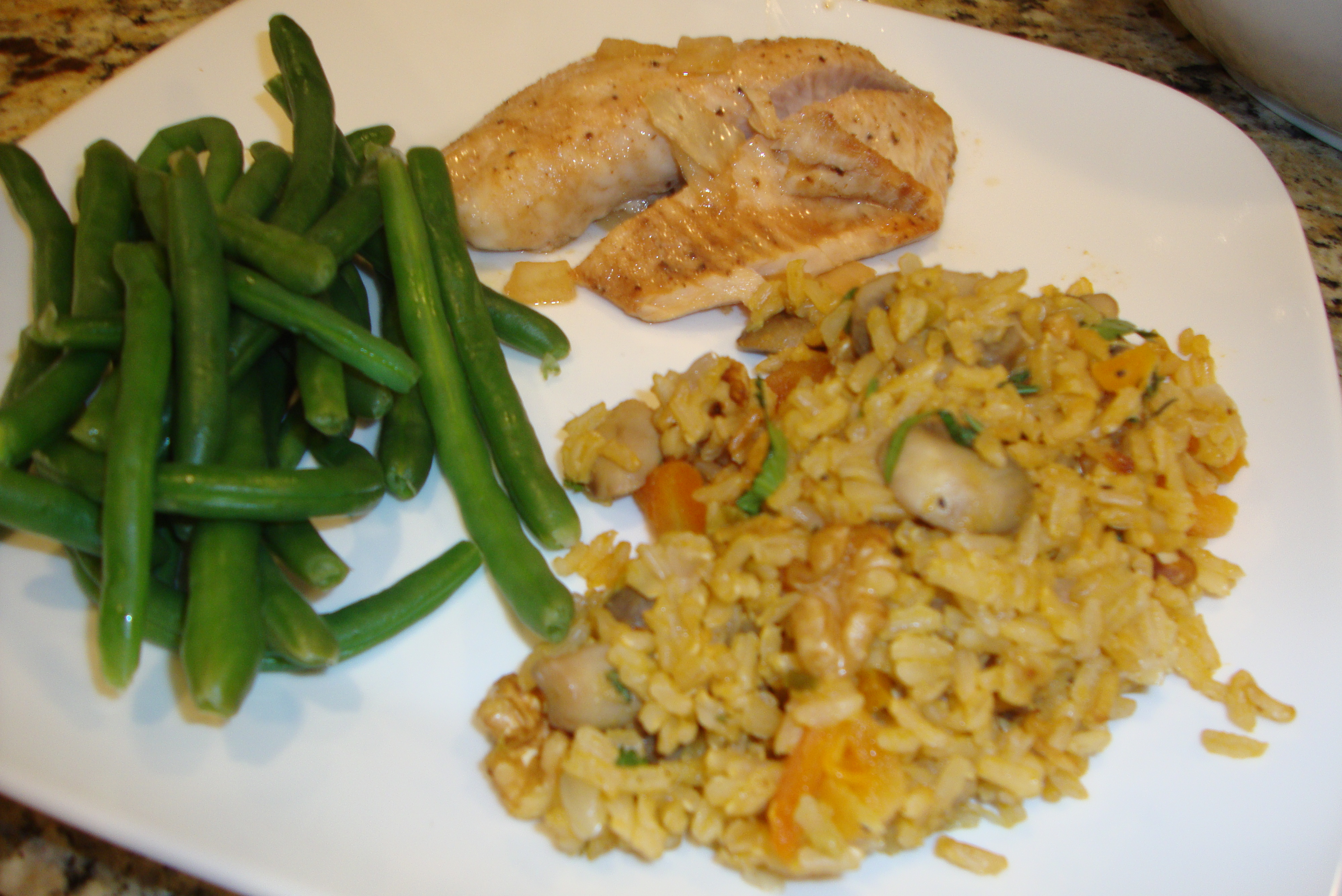 Rice side dishes for tilapia liss cardio workout for Sides for fried fish